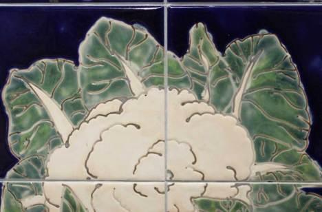 cauliflower tile panel