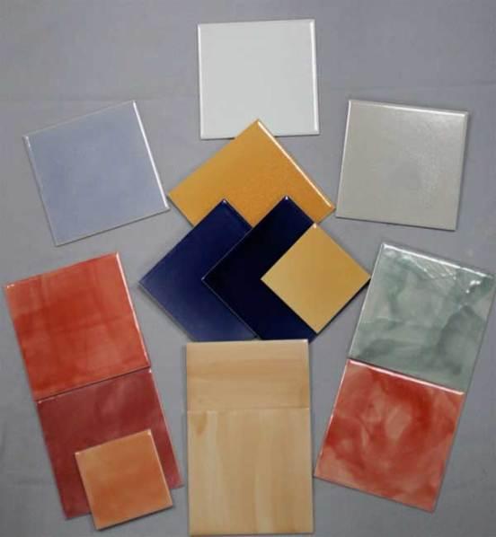 plain tiles , various