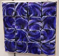 wavy blue tiles