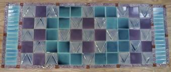 'Machintosh' style tile panel