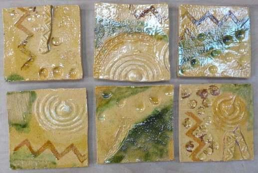 'Neolithic design 2 handmade tiles