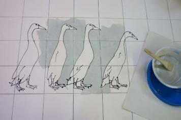 Runner ducks tiles 1
