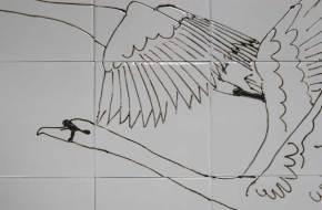Swans tiles