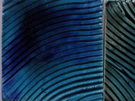 handmade tiles- wavy lines