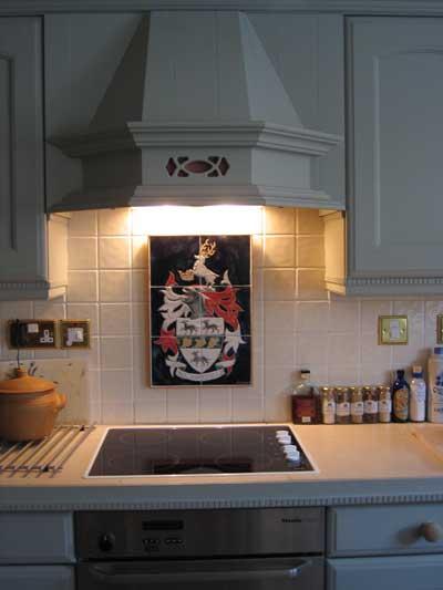 heraldic tile panel