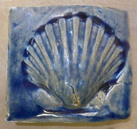 handmade tile scallop shell