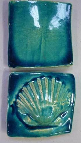 Handmade tiles scallops