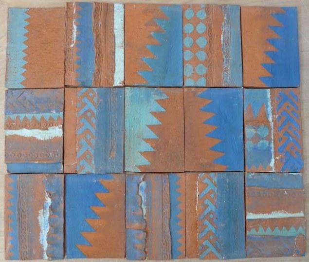 Zigzag handmade tiles