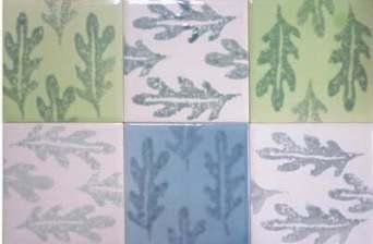 oak leaves tiles
