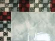 hand made border tiles - sponge print