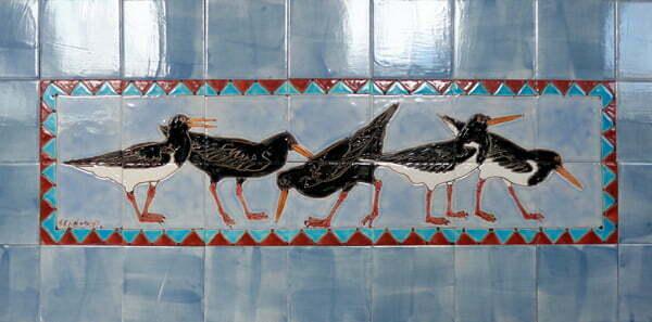 Oystercatcher tile panel