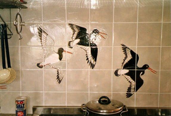 oystercatcher kitchen tiles