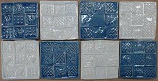 blue + white handmade tiles