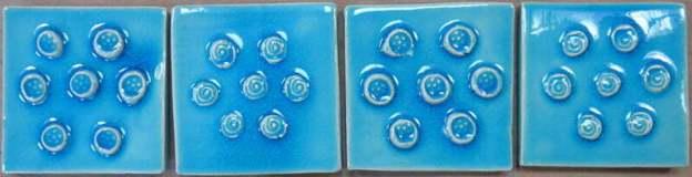 turquoise handmade tiles