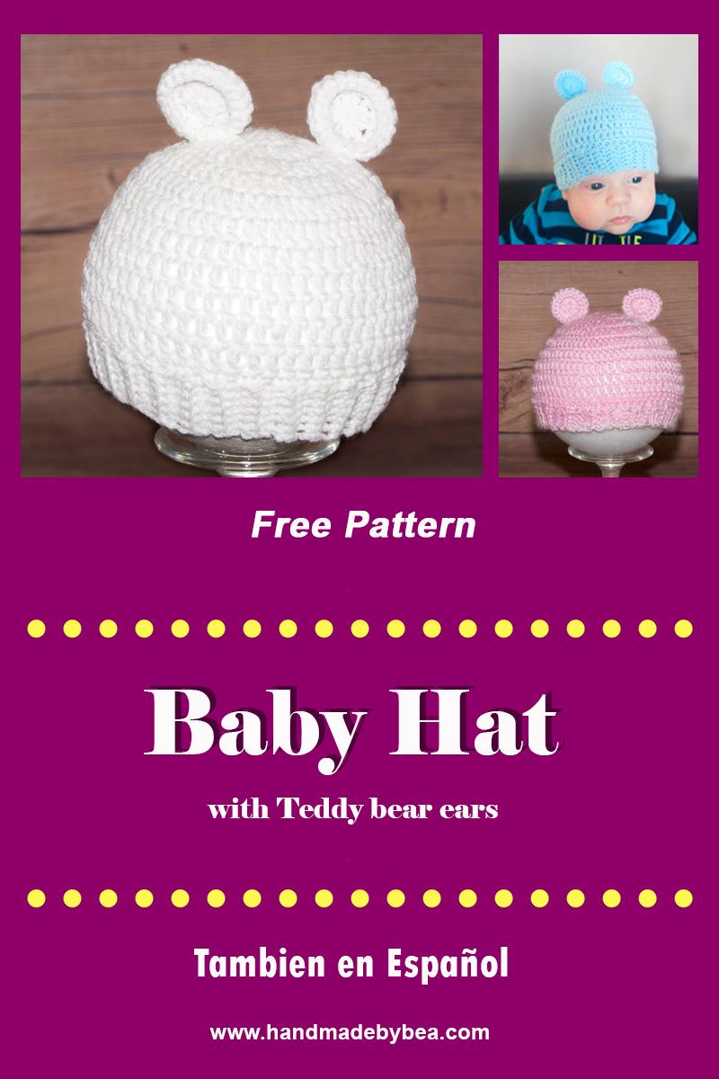 Crochet Baby Teddy Bears Hat Pattern - YouTube | 1200x800
