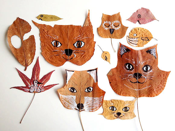 DIY Fall Leaf Animals | Handmade Charlotte