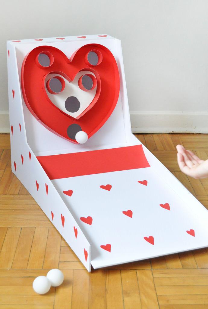 Valentines Day Carnival DIY Skeeball Handmade Charlotte