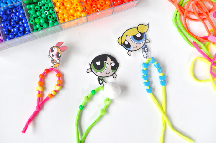 DIY Powerpuff Girls Hair Ties