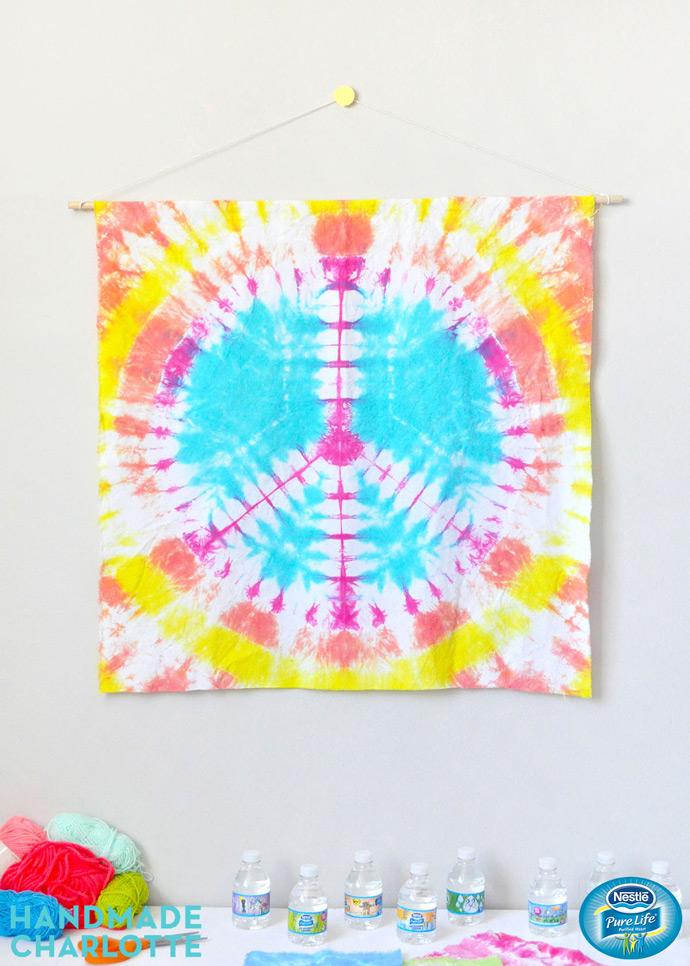 DIY Tie Dye Tapestries - Three Ways