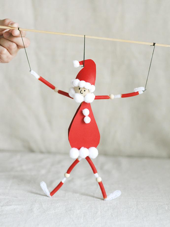 And Christmas Santa Black White