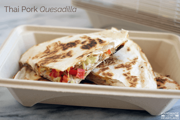 Thai Pork Quesadillas
