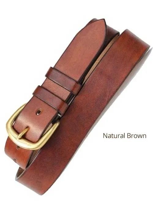 "1½"" Classic Handmade Leather Belt"