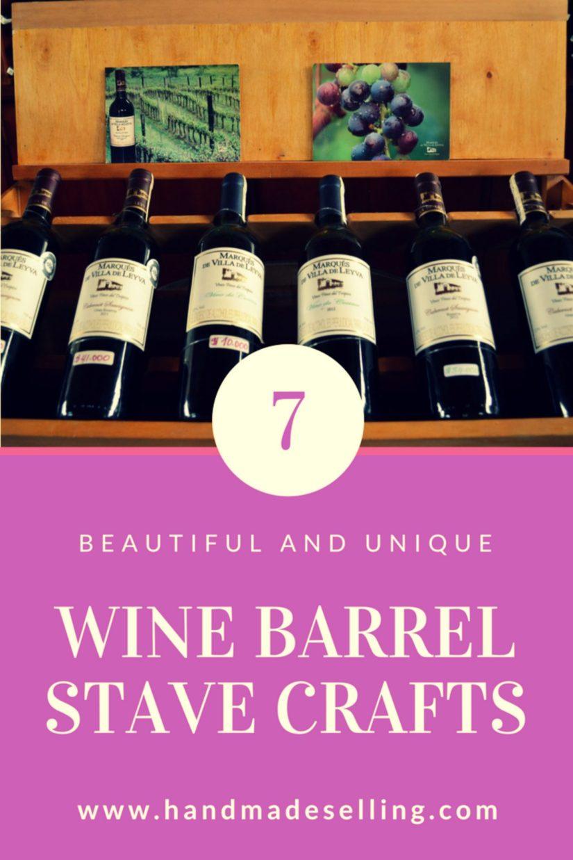 wine barrel stave crafts