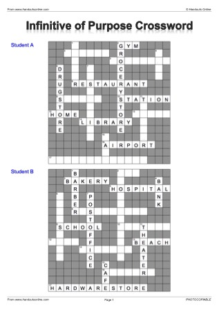 Crossword Efl Esl Search Worksheet Results