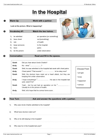 Handouts Online English Worksheets Activities And Lesson