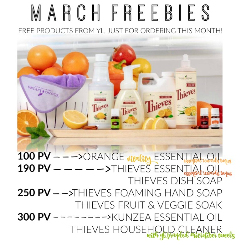 March Young Living Promos