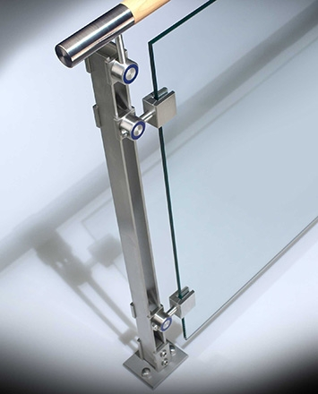 Inox™ Hdi Railing Systems | Tempered Glass Panels For Stairs | Metal | Glass Balustrade | Newel Post | Acrylic | Bannister