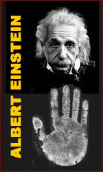 The hands of Albert Einstein.
