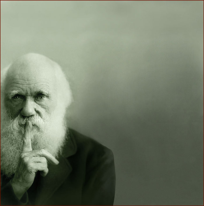 Charles Darwin's pointer finger.