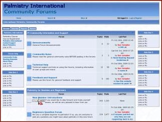 Snapshot of the new 'Palmistry International Community Forums'.