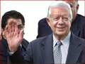 Jimmy Carter - right hand waving photo!