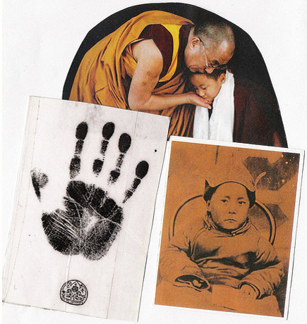 The handprint of the Dalia Lama.