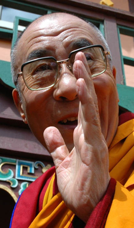 Left thumb: another hand impression from the Dalai Lama.