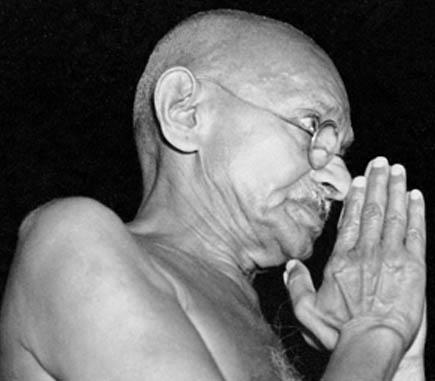 Mahatma Gandhi hand gestures.