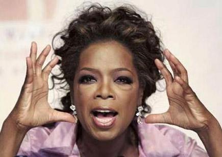 Oprah Winfrey - crazy hand gesture.