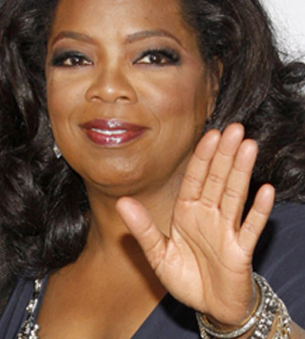 Oprah Winfrey's left hand.