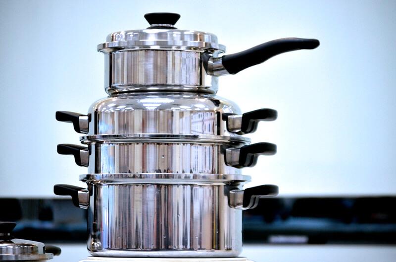 cookware, pots, pans