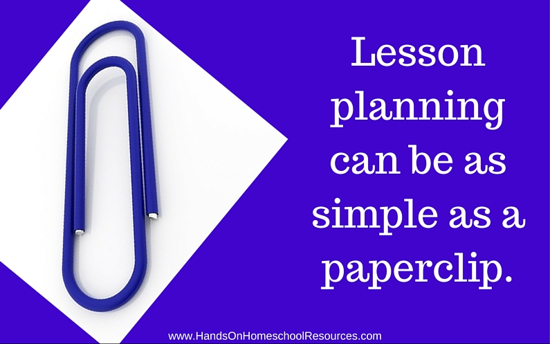 Lesson Planning with a Paperclip