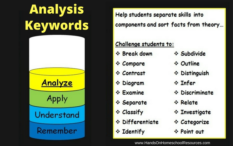 Key Words for Teaching Analysis
