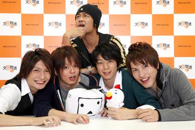 Animarus radio personalities in 2012: Nobunaga Shimazaki, Leona Irie, Koutaro Nishiyama, Yuto Suzuki (down), Hideo Ishiwaka (top)