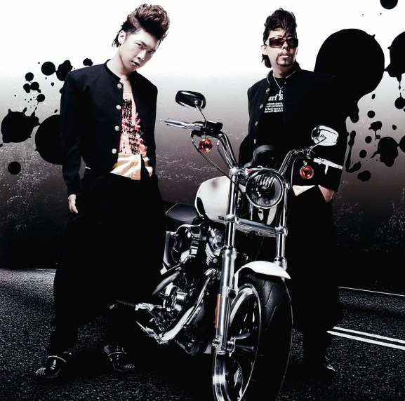 "Promotional photo for ""Hino satoshi and tachibana shinnosuke Meimon outlaw gakuen"" radio show"
