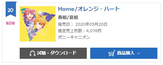 A3 Home, Orange Heart oricon monthly