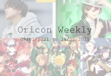 oricon weekly 2nd week feb 2021