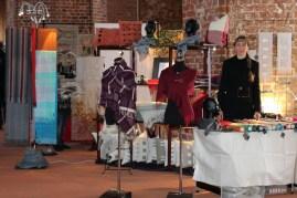 Verkaufsstand Handweberei Hoerenz in Wismar Kunstmarkt 2015