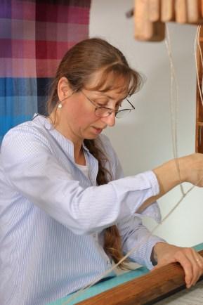 Werkstattfoto aus der Handweberei Stefanie Hoerenz (2019) (c)