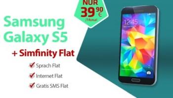 Samsung Galaxy S5 mit der Simfinity Flat